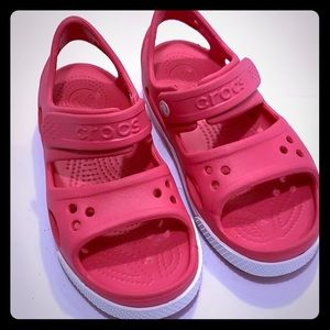 NWOT CROCS Pink for Kids( Little Girls) Size: 13